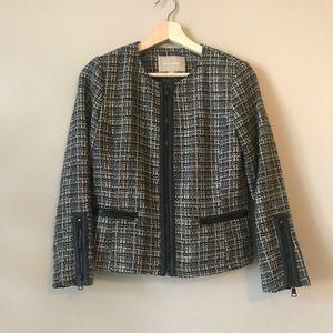 Banana Republic Tweed Zip Blazer Jacket